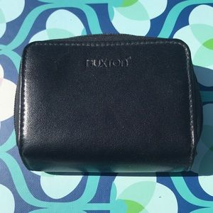 Small black genuine leather Buxton wallet